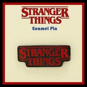 New! STRANGER THINGS LOGO ENAMEL PIN